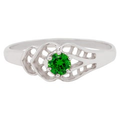 Demantoid Garnet 14 Karat Gold Engagement Ring