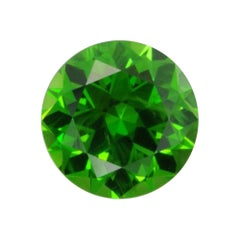 Demantoid Garnet Ring Gem 0.86 Carat Round Russia Loose Unset Gemstone