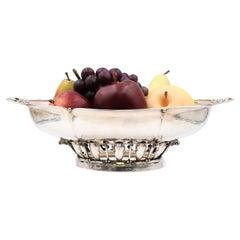 DeMatteo '?' Sterling Silver Mid-Century Modern Centerpiece Bowl in Jensen Style