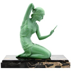 "Demetre Chiparus ""Coquetry"" Spelter Statue, 1920s"