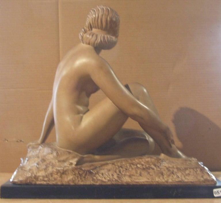 woman - Gray Figurative Sculpture by Demetre Chiparus