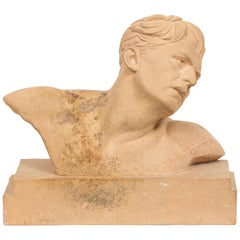 Demetre H. Chiparus, an Art Deco Terracotta Sculpture Bust of a Man, circa 1920