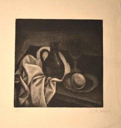 Nature Morte au Pichet - Original Manière Noir by Demetrios Galanis - 1925 ca.