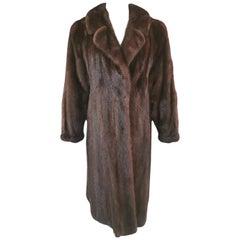 Pre-owned S. Smith & Son Demi Buff Mink Fur Coat (Size 12-14/L)