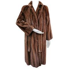 Demi-buff mink fur coat size 14-16