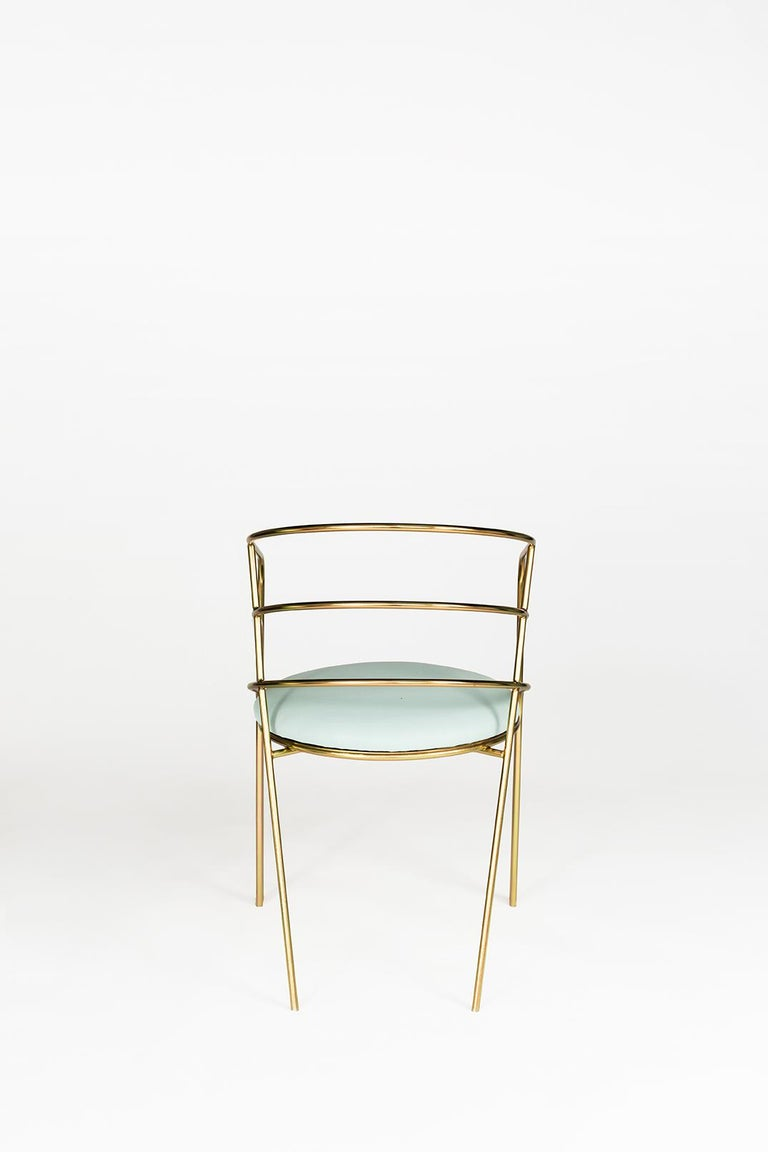 American DeMille, Indoor/Outdoor Copper-Plated Stainless Steel Dining Chair by Laun For Sale