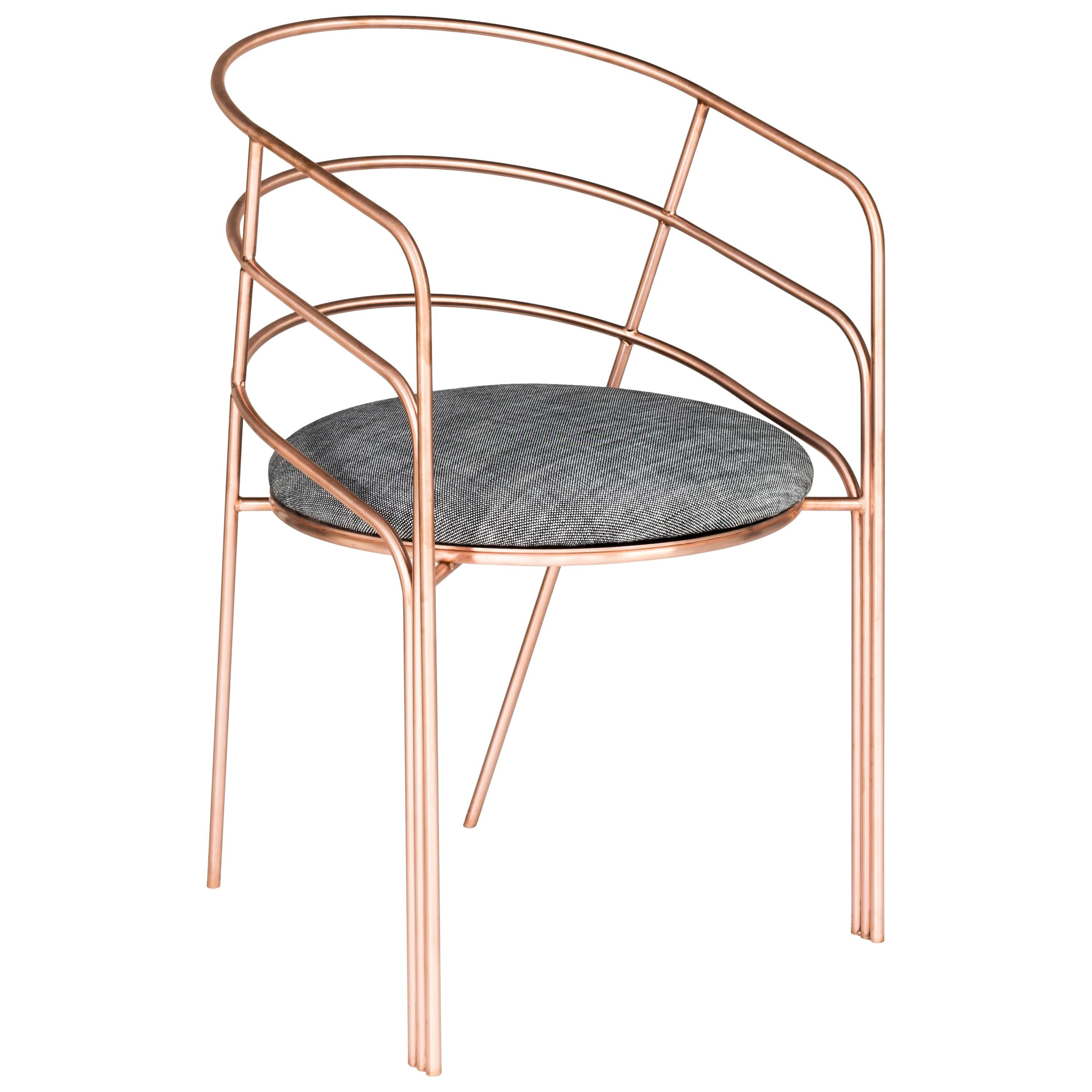DeMille, Indoor/Outdoor Copper-Plated Stainless Steel Dining Chair by Laun