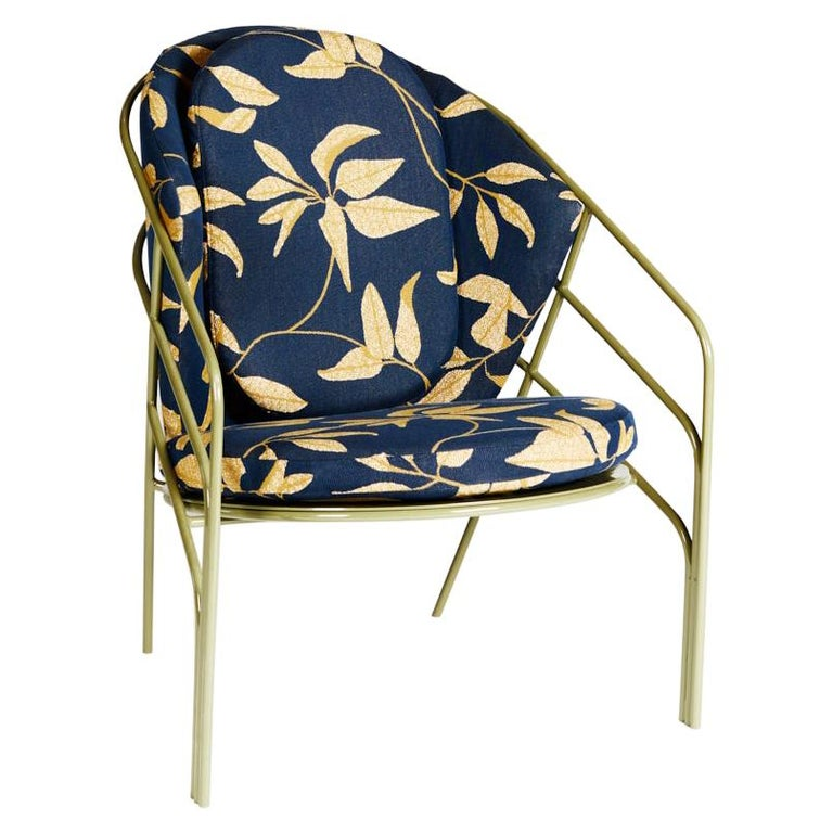 DeMille, Indoor/Outdoor Powder-Coated Stainless Steel Lounge Chair by Laun For Sale
