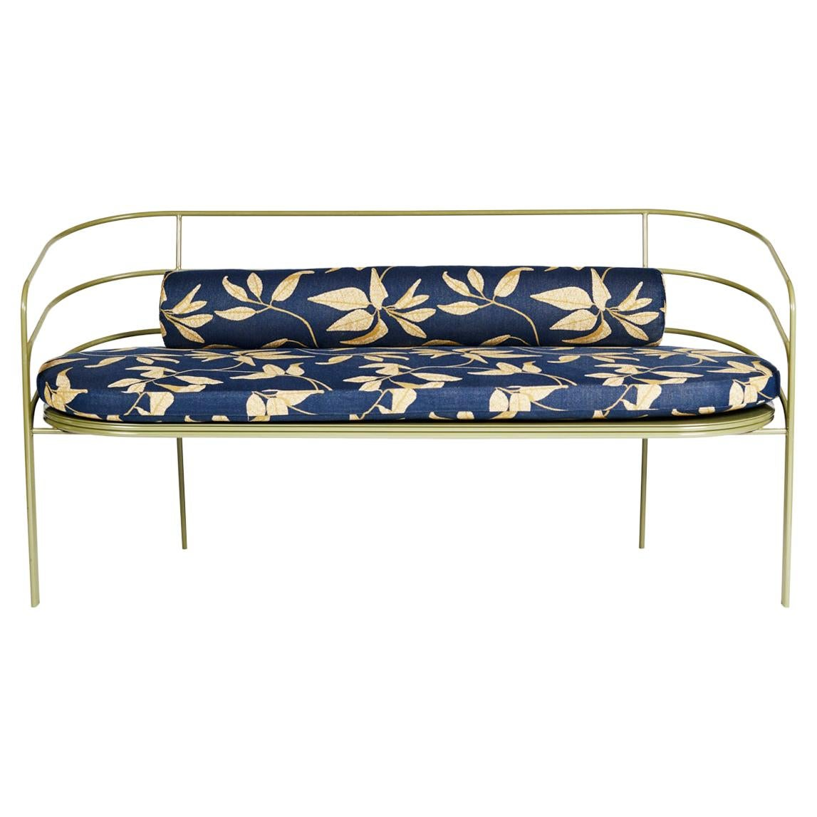 Demille, Indoor/Outdoor Powder-Coated Stainless Steel Sofa by Laun