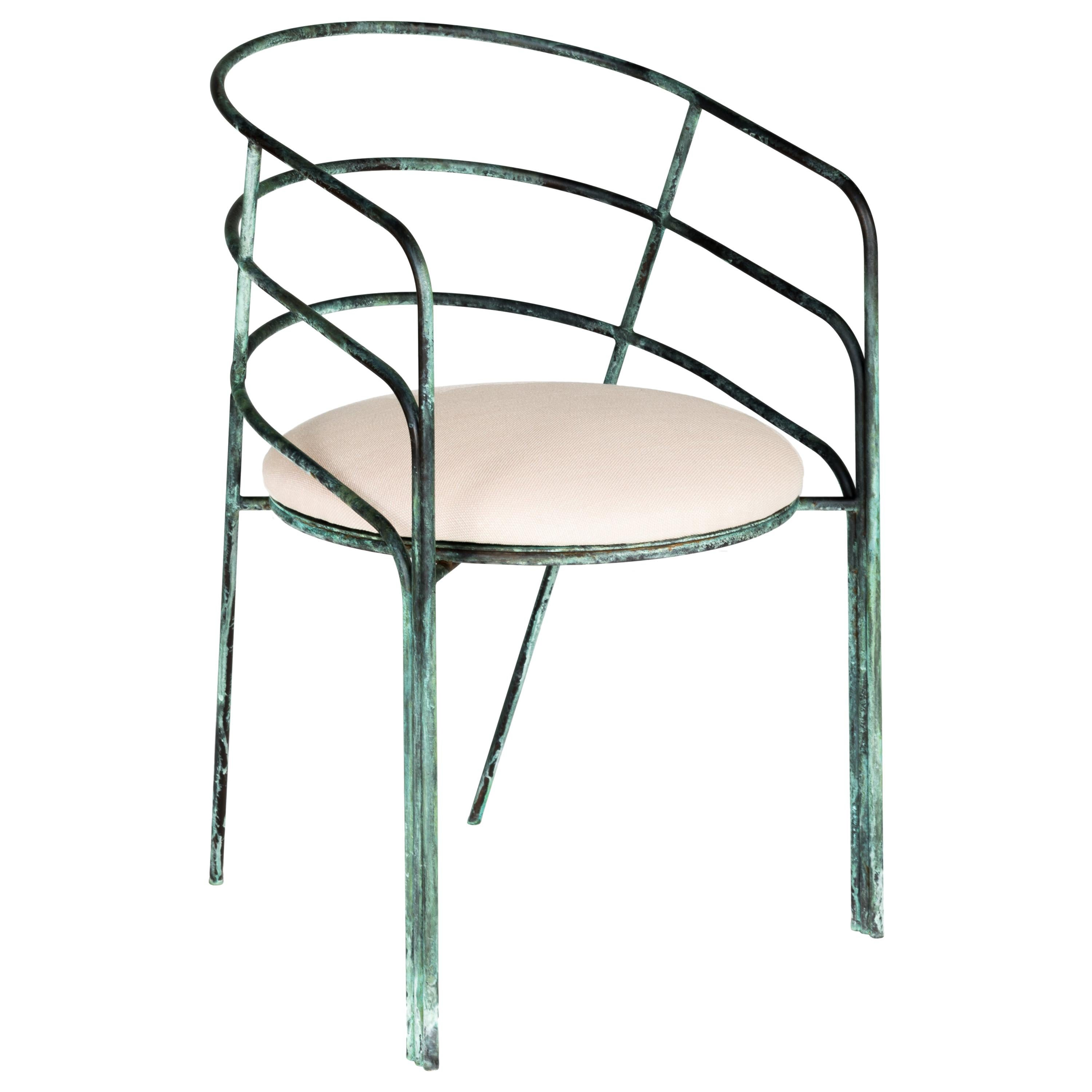 DeMille, Indoor/Outdoor Verdigris Stainless Steel Dining Chair by Laun