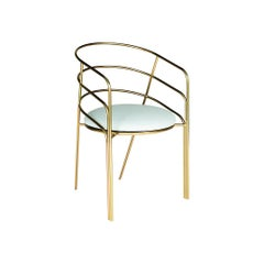 DeMille, Indoor/Outdoor Yellow Zinc Plated Stainless Steel Dining Chair by Laun