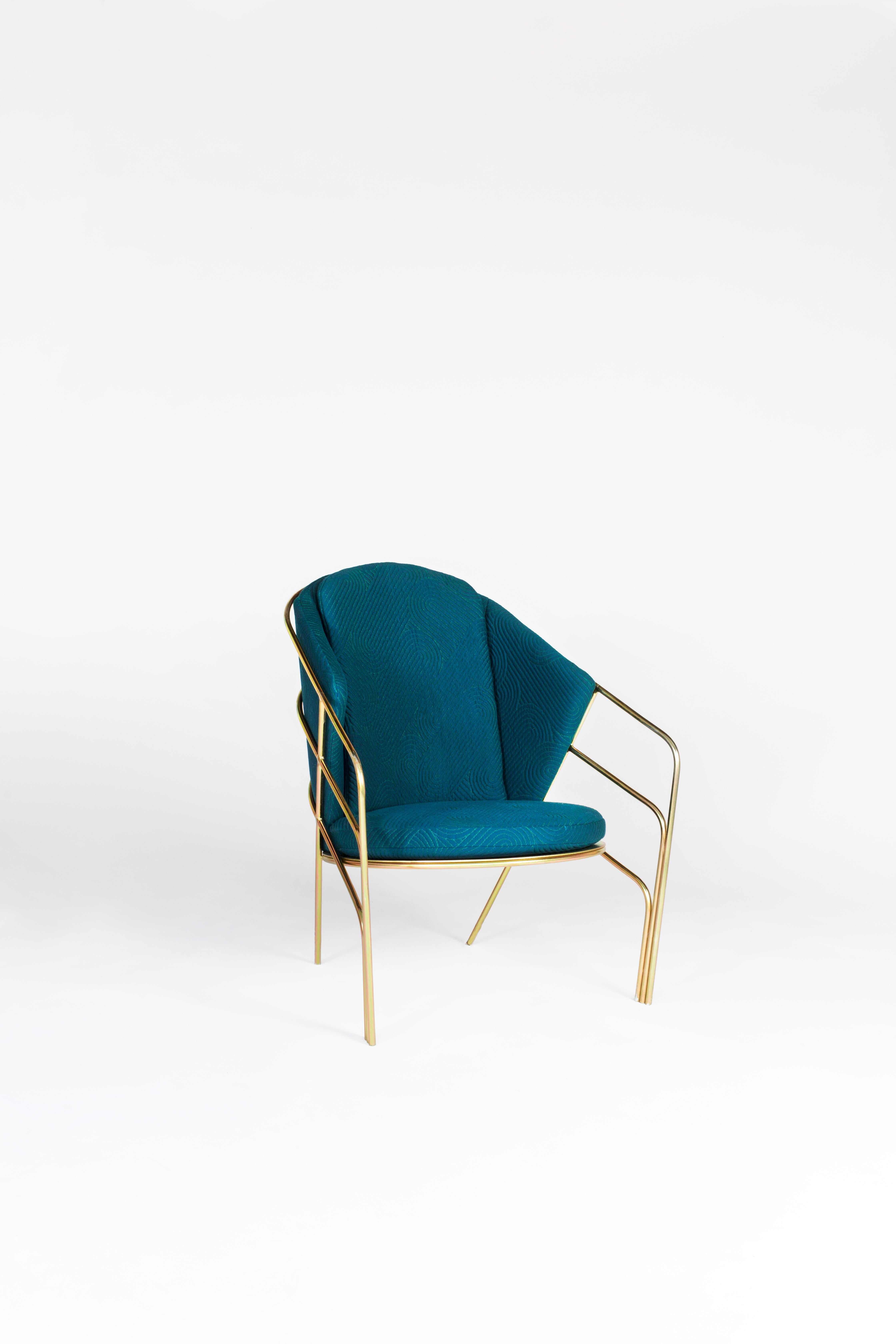 DeMILLE - Indoor/Outdoor Yellow Zinc Plated Stainless Steel Lounge Chair by  LAUN