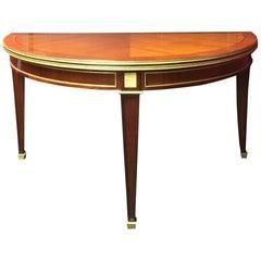 Demilune Kingwood Console Table, 19th Century