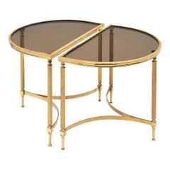 Demilune Maison Baguès Style Side Tables
