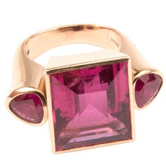 Demner 18k Pink Gold, Rubelite and Ruby Ring