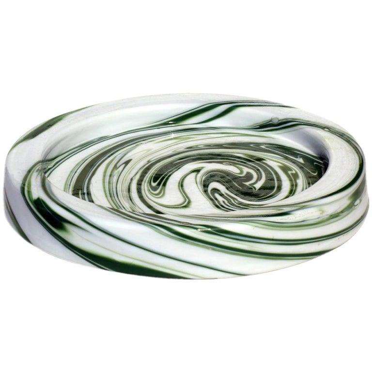 """""""Demodè"""" by Sergio Asti for Venini 1960s Murano Glass Ashtray For Sale"""