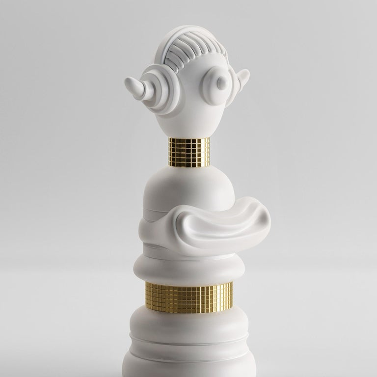 Italian Demodike Sculpture Vase by Matteo Cibic For Sale