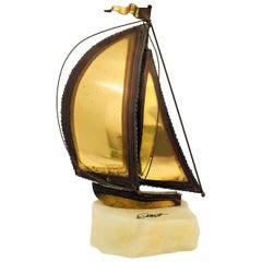 Demott Brass Boat Sculpture