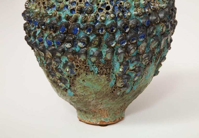 Glazed Dena Zemsky Studio-Made, Bulbous Form Vase For Sale
