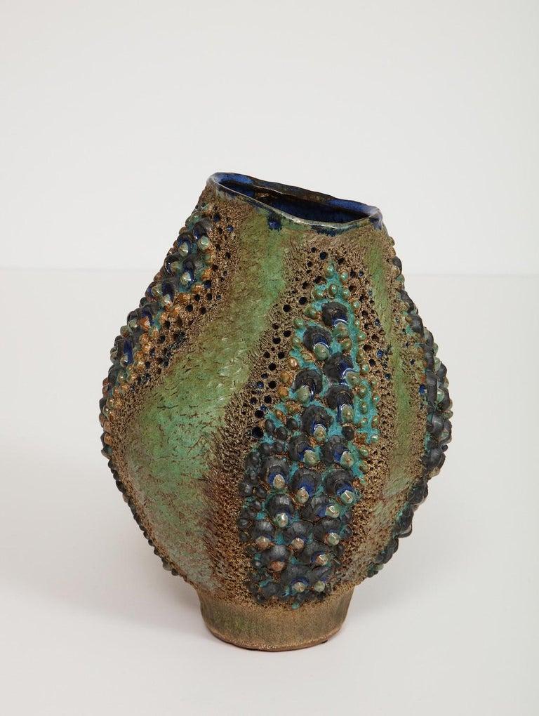 American Dena Zemsky Studio-Made Ceramic Vase For Sale