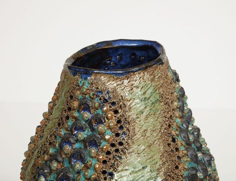 Contemporary Dena Zemsky Studio-Made Ceramic Vase For Sale