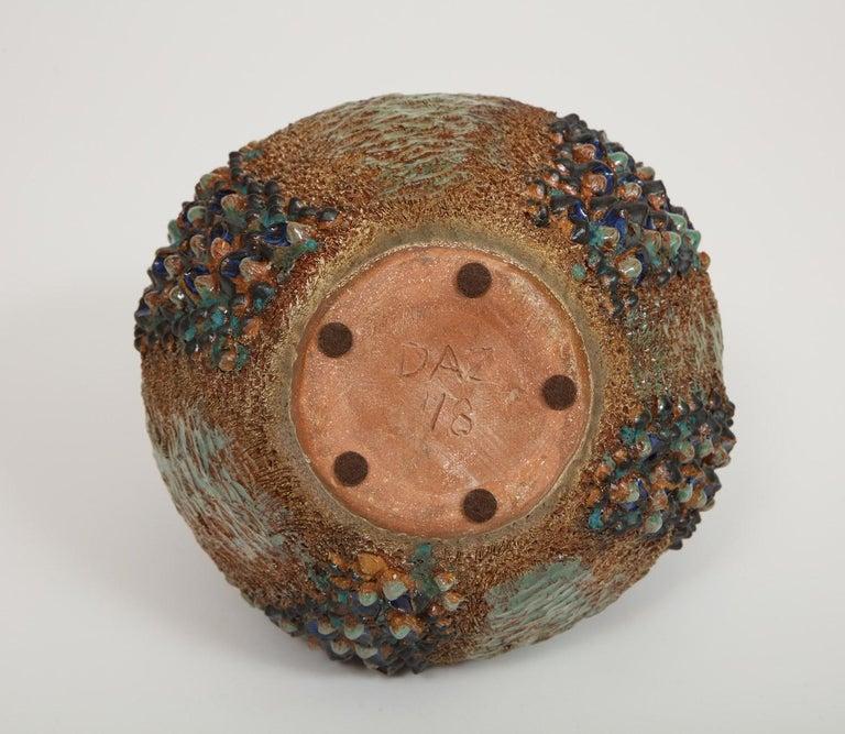 Stoneware Dena Zemsky Studio-Made Ceramic Vase For Sale