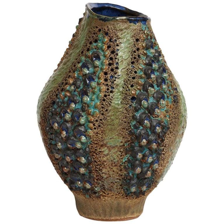 Dena Zemsky Studio-Made Ceramic Vase For Sale
