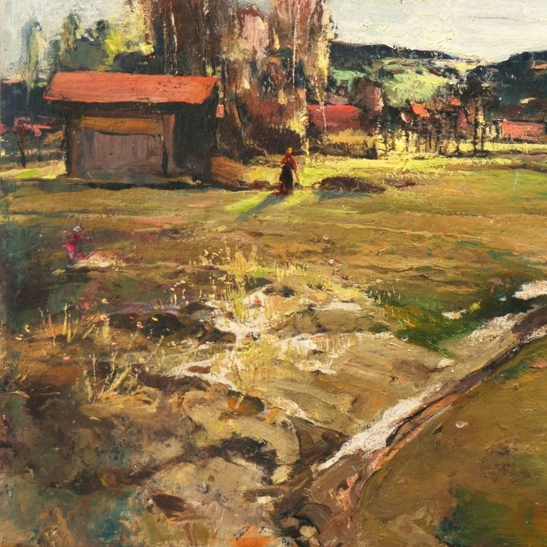 'Spring Landscape', Munich, Berlin, Hungarian Fine Arts Museum, Impressionist For Sale 1