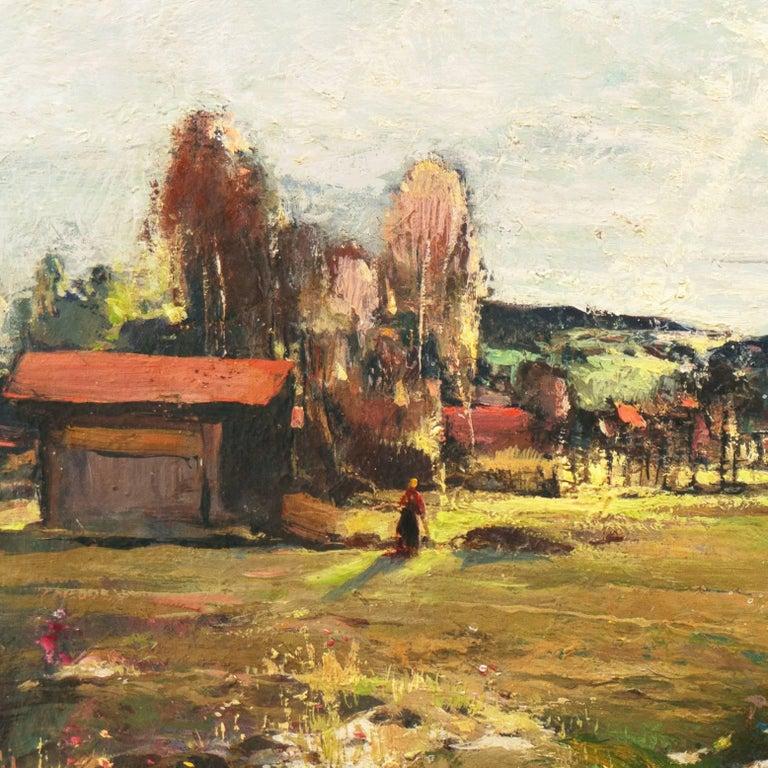'Spring Landscape', Munich, Berlin, Hungarian Fine Arts Museum, Impressionist For Sale 2