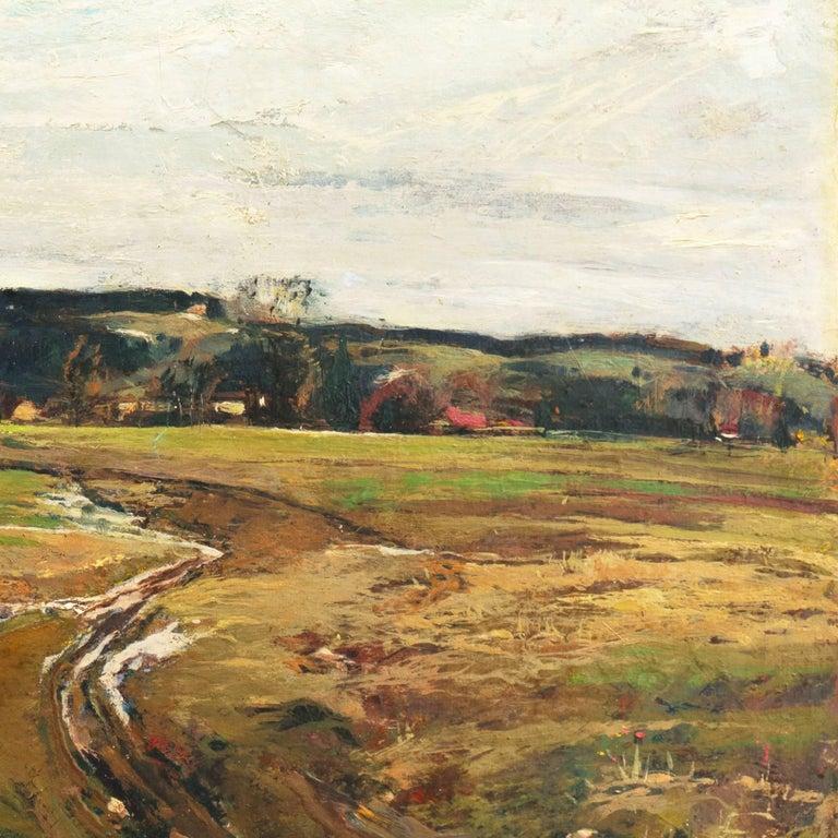 'Spring Landscape', Munich, Berlin, Hungarian Fine Arts Museum, Impressionist For Sale 4