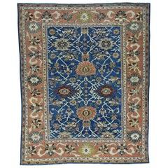 Denim Blue 1880 Antique Persian Mahal Rug All-Over Design Rich