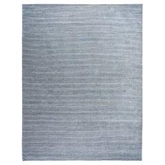 Denim Blue Stripe Area Rug