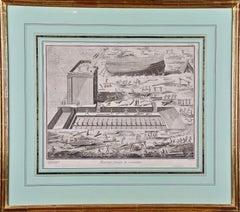 """Marine Chantier de Construction"": 18th C. Engraving of Shipbuilding by Diderot"