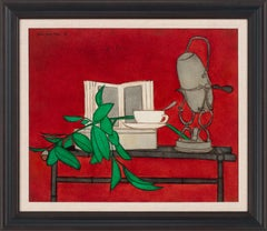 [Untitled Still Life] Oil Painting on Canvas by Denis Paul Noyer, Framed