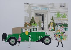 Mercedes 370 and Hotel Gonnet - Signed lithograph - 115ex