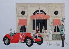 Mercedes 710 - Cabourg Grand Hotel - Original handsigned lithograph - 115ex