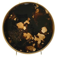Denis Perrollaz Ambre Plate in Mixed-Media on Brass