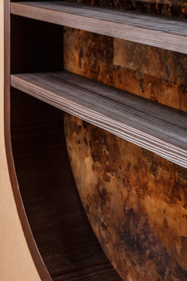 Denis Perrollaz and Atelier Linné  Elements shelf.  Measures: 51,18