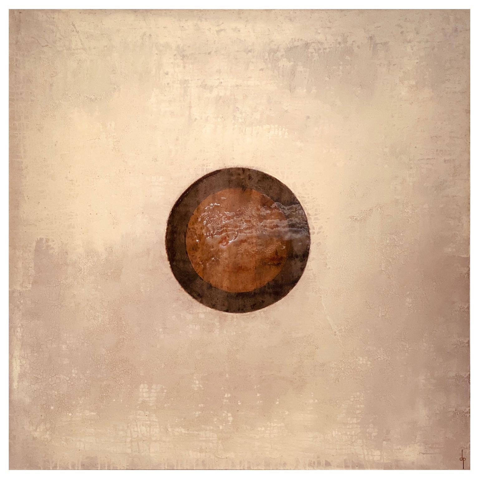 Denis Perrollaz Cercle et Éléments Painting in Mixed-Media