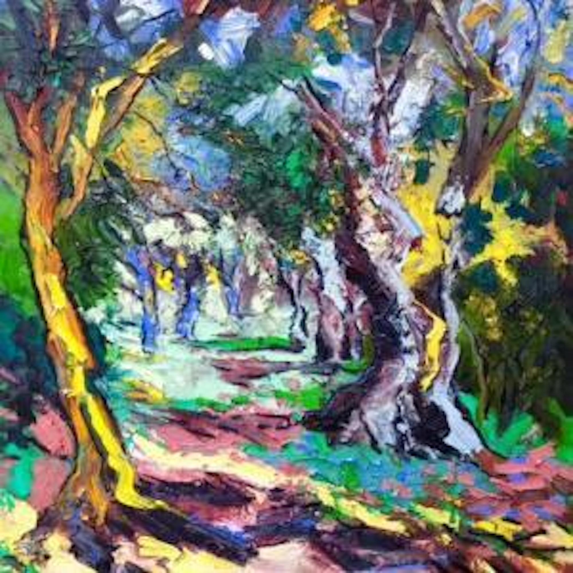 Decadent Nature - landscape natural flora oil painting contemporary art 21st C
