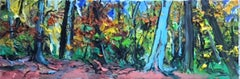 Forest - original landscape fauvist colourful painting modern contemporary