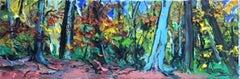Forest - original landscape oil painting modern contemporary art 21st Century