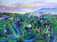 Iris Filed II original abstract landscape painting