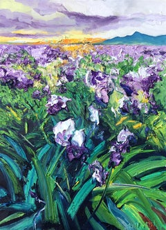 Iris Filed original abstract landscape painting