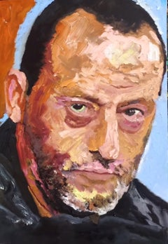 Jean - original portrait celebrity Jean Reno French artwork contemporary modern