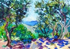 Midday Shadows - original landscape artwork contemporary art 21st C nature