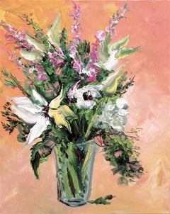 Spring Bouquet III  abstract still life painting