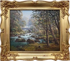 Original Oil Painting of Tollymore Forest in Ireland by Modern Irish Artist