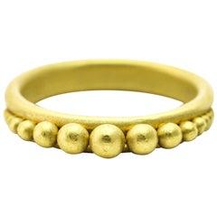 Denise Betesh Graduated Granules 22 Karat Yellow Gold Ring Stackable Band