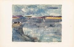 The Sea - Original Lithograph by Denise Bonvallet Philippon